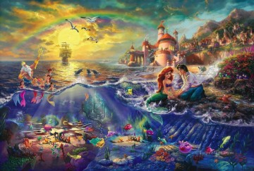 mermaid Painting - The Little Mermaid Thomas Kinkade