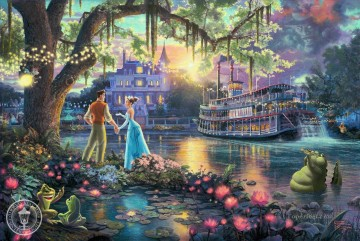 Kinkade Canvas - The Princess and the Frog Thomas Kinkade