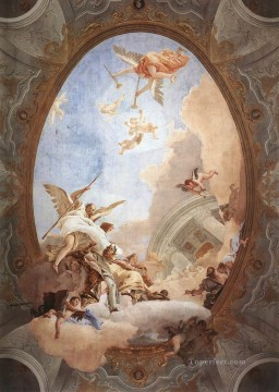 Giovanni Battista Tiepolo Painting - Allegory of Merit Accompanied by Nobility and Virtue Giovanni Battista Tiepolo
