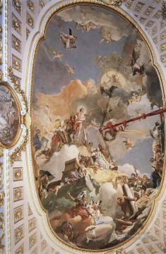 Giovanni Battista Tiepolo Painting - Palacio Real The Apotheosis of the Spanish Monarchy Giovanni Battista Tiepolo