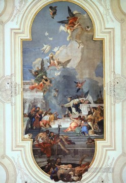 Giovanni Battista Tiepolo Painting - The Institution of the Rosary Giovanni Battista Tiepolo