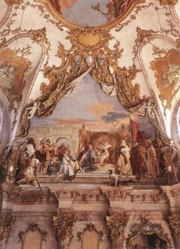 Giovanni Battista Tiepolo Painting - Wurzburg The Investiture of Herold as Duke of Franconia Giovanni Battista Tiepolo