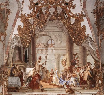 Giovanni Battista Tiepolo Painting - Wurzburg The Marriage of the Emperor Frederick Barbarossa to Beatrice of Burgundy Giovanni Battista Tiepolo