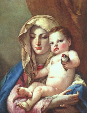 Giovanni Battista Tiepolo Painting - Madonna of the Goldfinch Giovanni Battista Tiepolo