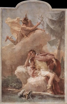 Giovanni Battista Tiepolo Painting - Villa Valmarana Mercury Appearing to Aeneas Giovanni Battista Tiepolo