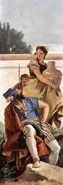 Giovanni Battista Tiepolo Painting - A Seated Man and a Girl with a Pitcher Giovanni Battista Tiepolo