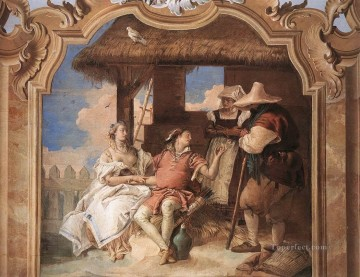 Giovanni Battista Tiepolo Painting - Villa Valmarana Angelica and Medoro with the Shepherds Giovanni Battista Tiepolo