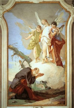 Giovanni Battista Tiepolo Painting - Palazzo Patriarcale The Three Angels Appearing to Abraham Giovanni Battista Tiepolo
