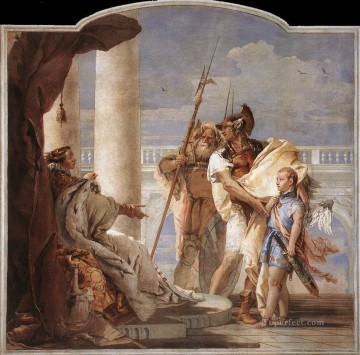 Giovanni Battista Tiepolo Painting - Villa Valmarana Aeneas Introducing Cupid Dressed as Ascanius to Dido Giovanni Battista Tiepolo