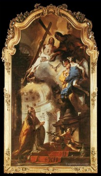 Giovanni Battista Tiepolo Painting - Pope St Clement Adoring the Trinity Giovanni Battista Tiepolo
