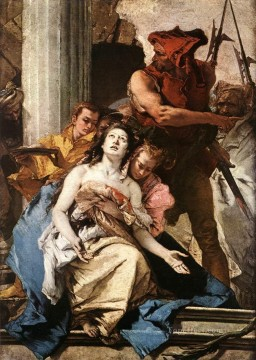 Giovanni Battista Tiepolo Painting - The Martyrdom of St Agatha Giovanni Battista Tiepolo