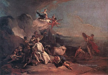 Giovanni Battista Tiepolo Painting - The Rape of Europa Giovanni Battista Tiepolo