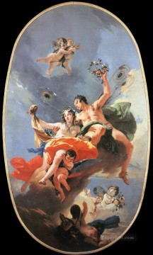 Giovanni Battista Tiepolo Painting - The Triumph of Zephyr and Flora Giovanni Battista Tiepolo