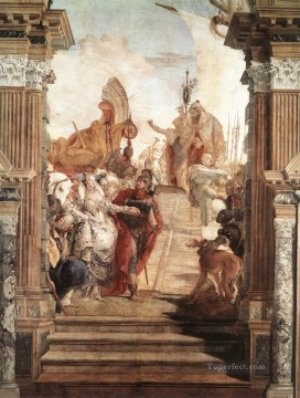 Giovanni Battista Tiepolo Painting - Palazzo Labia The Meeting of Anthony and Cleopatra Giovanni Battista Tiepolo