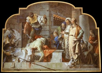 Giovanni Battista Tiepolo Painting - The Beheading of John the Baptist Giovanni Battista Tiepolo