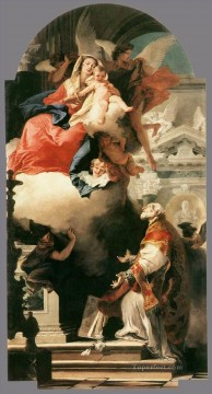Giovanni Battista Tiepolo Painting - The Virgin Appearing to St Philip Neri Giovanni Battista Tiepolo
