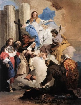 Giovanni Battista Tiepolo Painting - The Virgin with Six Saints Giovanni Battista Tiepolo