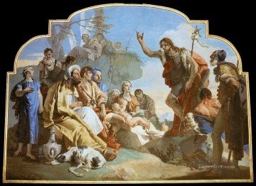 Giovanni Battista Tiepolo Painting - John the Baptist Preaching Giovanni Battista Tiepolo