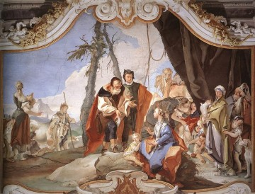 Giovanni Battista Tiepolo Painting - Palazzo Patriarcale Rachel Hiding the Idols from her Father Laban Giovanni Battista Tiepolo