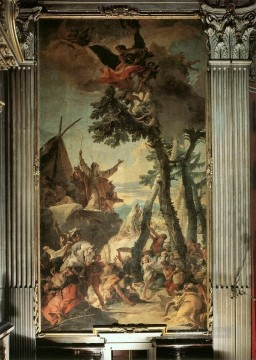 Giovanni Battista Tiepolo Painting - The Gathering of Manna Giovanni Battista Tiepolo