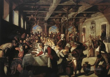 Marriage at Cana Italian Renaissance Tintoretto Oil Paintings