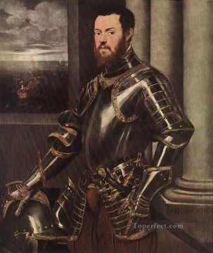 Italian Oil Painting - Man in Armour Italian Renaissance Tintoretto