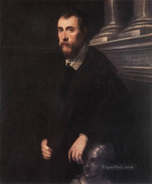 Portrait of Giovanni Paolo Cornaro Italian Renaissance Tintoretto Oil Paintings
