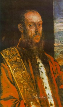 Portrait of Vincenzo Morosini Italian Renaissance Tintoretto Oil Paintings