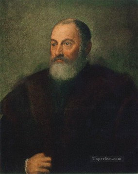 Italian Oil Painting - Portrait of a Man 1560 Italian Renaissance Tintoretto