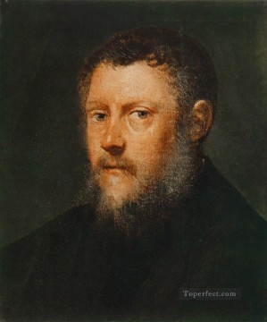 Italian Oil Painting - Portrait of a Man fragment Italian Renaissance Tintoretto