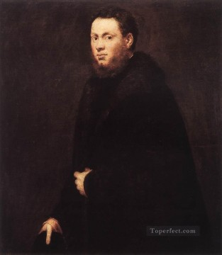 Italian Painting - Portrait of a Young Gentleman Italian Renaissance Tintoretto