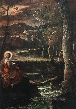 Italian Oil Painting - St Mary of Egypt Italian Renaissance Tintoretto