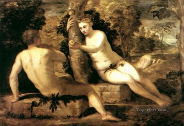 Italian Oil Painting - Adam and Eve Italian Renaissance Tintoretto
