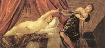 Italian Oil Painting - Joseph and Potiphars Wife Italian Renaissance Tintoretto