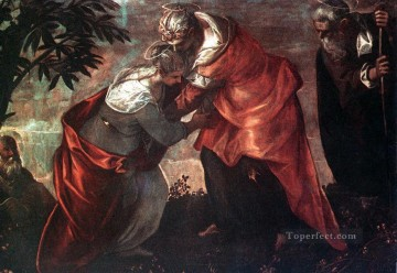 Italian Painting - The Visitation Italian Renaissance Tintoretto