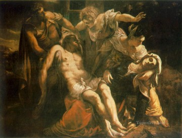 cross - Descent from the Cross Italian Renaissance Tintoretto