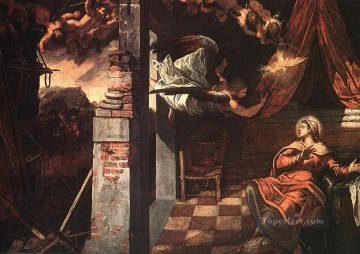 Italian Oil Painting - Annunciation Italian Renaissance Tintoretto
