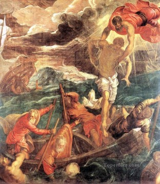 Italian Oil Painting - St Mark Saving a Saracen from Shipwreck Italian Renaissance Tintoretto