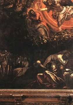 Italian Oil Painting - The Prayer in the Garden Italian Renaissance Tintoretto