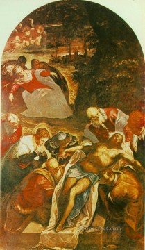 Entombment Italian Renaissance Tintoretto Oil Paintings
