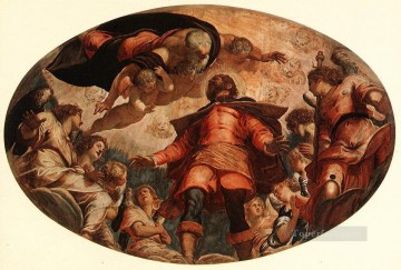 Glorification of St Roch Italian Renaissance Tintoretto Oil Paintings