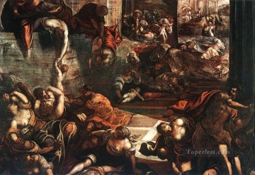 The Slaughter of the Innocents Italian Renaissance Tintoretto Oil Paintings