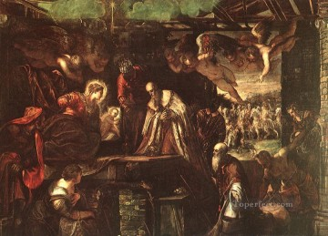 Adoration of the Magi Italian Renaissance Tintoretto Oil Paintings