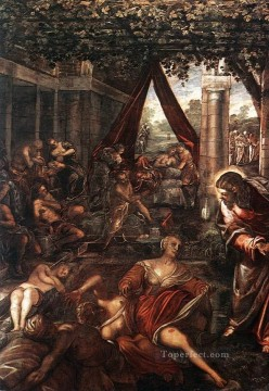 La Probatica Piscina Italian Renaissance Tintoretto Oil Paintings