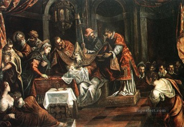 The Circumcision Italian Renaissance Tintoretto Oil Paintings