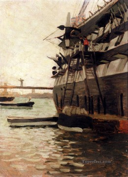 Battle Deco Art - The Hull Of A Battle Ship James Jacques Joseph Tissot