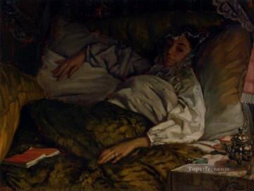 A Reclining Lady James Jacques Joseph Tissot Oil Paintings