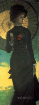 mrs painting - Mrs Newton with a Parasol James Jacques Joseph Tissot