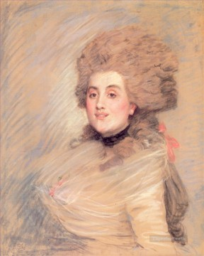 Portrait of an Actress in 18thC Dress James Jacques Joseph Tissot Oil Paintings