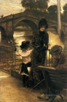 by Works - By the Thames at Richmond James Jacques Joseph Tissot